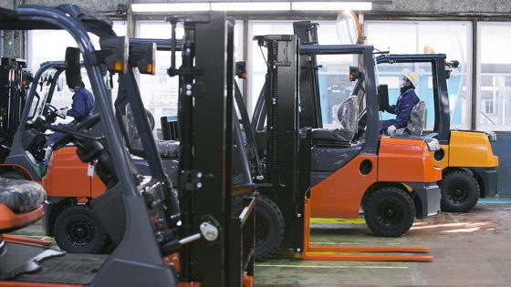 Toyota Material Handling Group forklifts.