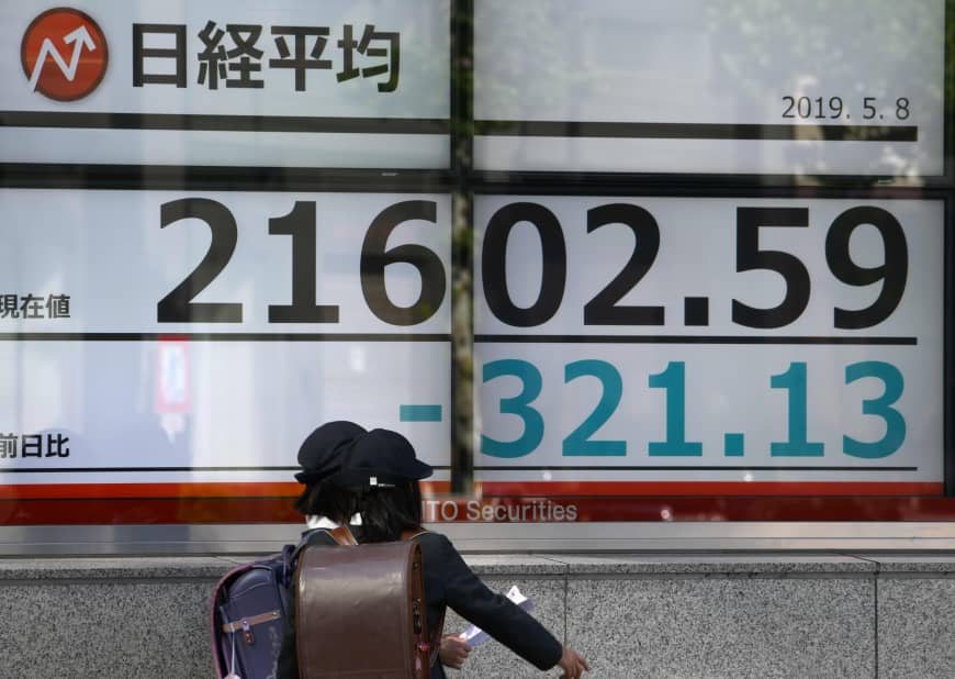 Tokyo stocks plunge further amid U.S.-China trade war fears