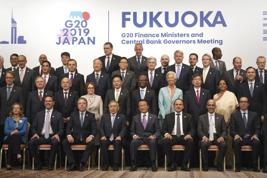 G20 finance leaders say trade, other tensions 'intensifying,' but pledge action to counter risks